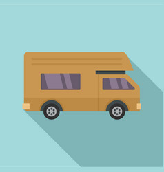 motor house icon flat style vector image