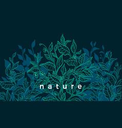 Nature background tea tree art vector