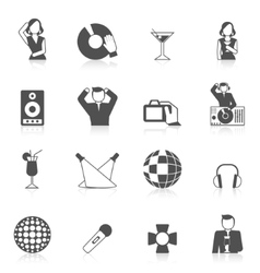 Nightclub Icon Set vector image
