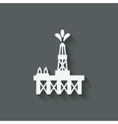 Oil platform symbol vector