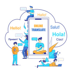 Online translate using chatbot vector