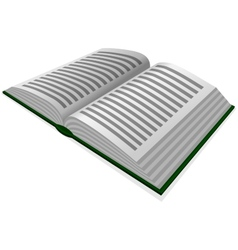 Opened book vector image