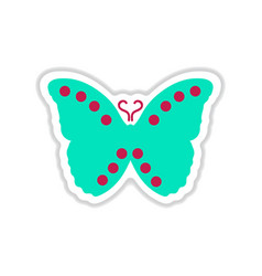 Paper sticker on white background flying vector