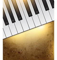 piano banner vector image