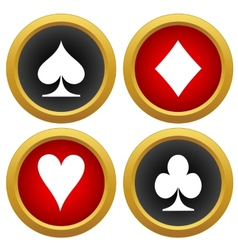Playing cards icons vector