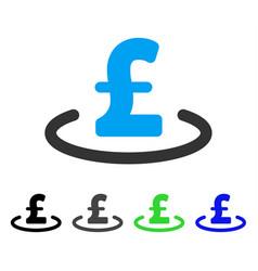 Pound location flat icon vector