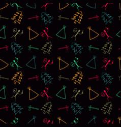 Primitive symbol pattern background vector