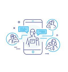 Robot social media vlog virtual communication vector
