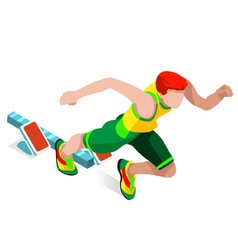 Running 2016 Sports Isometric 3D vector image