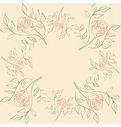 seamless of flowers on a beige vector image vector image