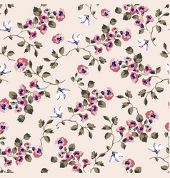 seamless pattern design with little forget me vector image