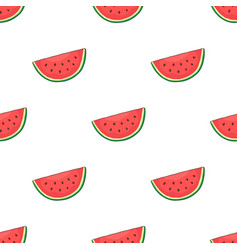seamless pattern with watermelon slice vector image