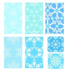set christmas pattern vector image