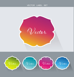 Set flat labels paper tags promotion banners vector