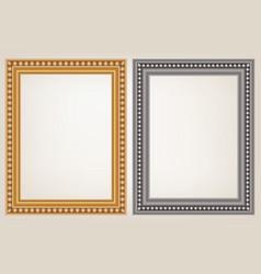 Set of wooden vintage frame vector
