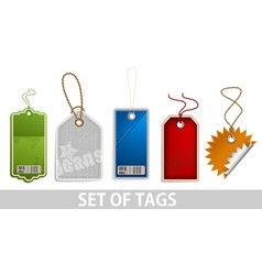 set tags vector image