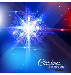 Shining christmas background with crystal vector image