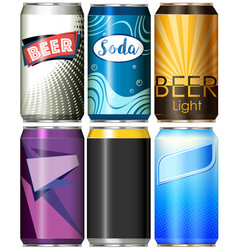 six different designs for refreshments vector image