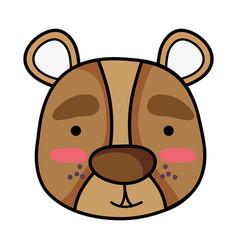 Smile bear head wild animal vector