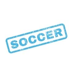 Soccer Rubber Stamp vector