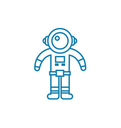 space suit linear icon concept space suit line vector image
