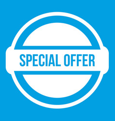 Special offer circle icon white vector