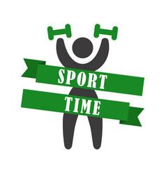 Sport time icon design vector