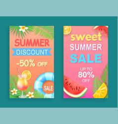 Sweet summer sale discount vector