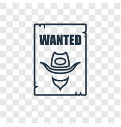 wanted concept linear icon isolated on vector image