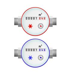 Water meter vector