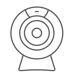 Web camera thin line icon electronic and digital vector