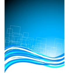 abstract blue bright template vector image