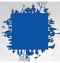 Christmas and New Year frame vector image vector image
