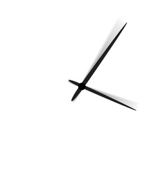clock face with shadow on white background vector image