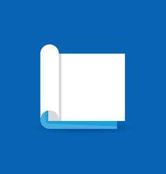 flat open book concept icon or logo element vector image vector image