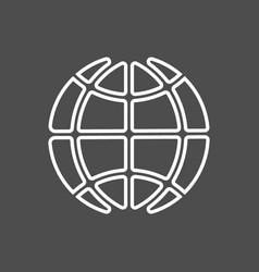 icon earth vector image vector image