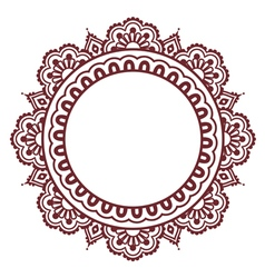 Indian Henna floral tattoo round pattern - Mehndi vector image