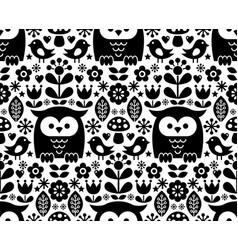 scandinavian seamless pattern nordic folk art vector image vector image