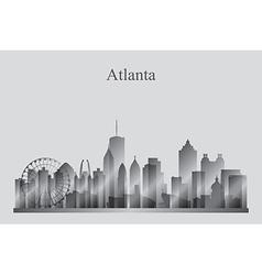 Atlanta city skyline silhouette in grayscale vector image vector image