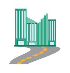 building facade road icon vector image vector image