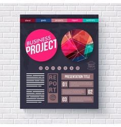 Business Project presentation infographic vector image