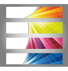 Colorful fresh looking cards vector image vector image
