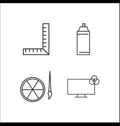 design and studio simple linear icon setsimple vector image
