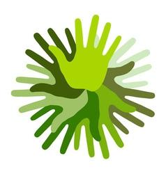 Green Hand Print icon vector image vector image
