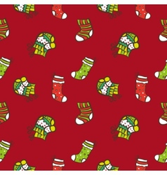 hand drawn Christmas or New Year seamless pattern vector image