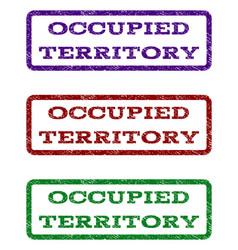 Occupied territory watermark stamp vector