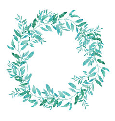 Olive wreath isolated on white background green vector