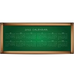 calendar on school board vector image vector image