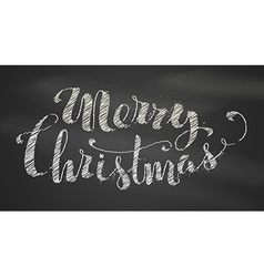 Chalk Merry Christmas Lettering vector image