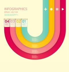 Modern soft color Design template vector image